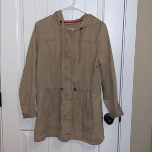 Mossimo Supply Co tan zip up jacket.